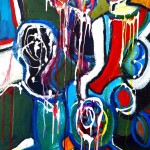 PROPS 24 by 30 acrylic on gallery canvas