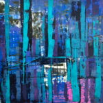 GARDEN CENTRE 24 by 24 acrylic on gallery canvas
