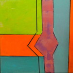 HOURGLASS 30 by 30 acrylic on gallery canvas
