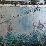 FROZEN CROSSINGS 30 by 40 acrylic on gallery canvas