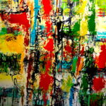 MERRIMENT 48 by 48 acrylic on canvas