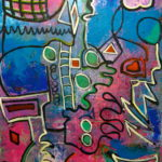 MAGIC CARPET 30 by 30 acrylic on gallery canvas