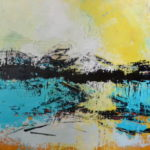 ADRIFT 30 by 30 acrylic on gallery canvas