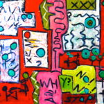 EQUATOR 30 by 30 acrylic on gallery canvas