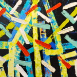 INSTALLATION 24 by 24 acrylic on gallery canvas
